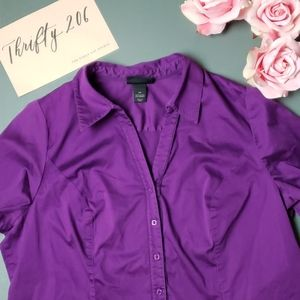 [Lane Bryant] Size 22 Long Sleeved Button Down